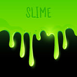 Green Gooey Slime. Dripping. Vector illustration Royalty Free Stock Image