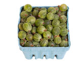 Green gooseberries isolated on white Royalty Free Stock Photography