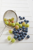 Green gooseberries Stock Photography