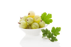 Green gooseberries. Royalty Free Stock Photography