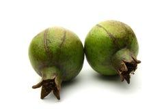 Green gooseberry fruit on white Royalty Free Stock Photos
