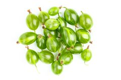 Green gooseberry isolated stock image