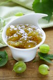 Green gooseberry jam Royalty Free Stock Photos