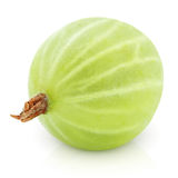 Green gooseberry on white Royalty Free Stock Photos