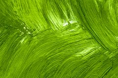 Green gouache paint Stock Photos