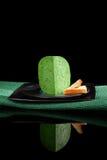 Green gouda cheese. Stock Photo