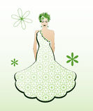 Green gown Royalty Free Stock Photos