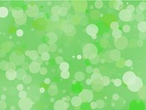 Green gradient background with bokeh effect. Abstract blurred pattern. Light background Vector illustration. Green gradient background with bokeh effect Royalty Free Stock Images
