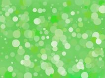 Green gradient background with bokeh effect. Abstract blurred pattern. Light background Vector illustration. Green gradient background with bokeh effect Stock Image