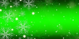 Green gradient background with snowflakes. Green gradient background with snowflakes banner vector illustration