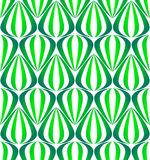 Green gradient on white tear drop striped shaped lantern pattern seamless repeat background vector illustration