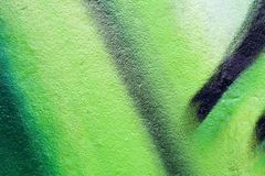 Green graffiti texture or background Stock Images