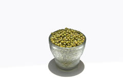 Green Gram. S are pulses with green outer skin and yellow grains inside Stock Photos