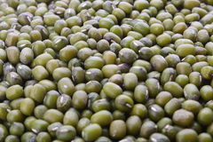 Green gram pulse seeds . Stock Photo