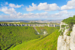 Green Grand Canyon in Crimean Mountains Stock Photography
