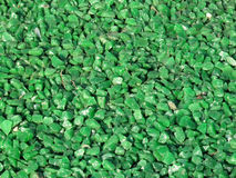 Green Granite Chippings Background. Close up of green granite pebble chippings background stock images