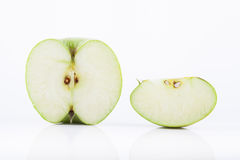 Green Granny Smith apple Stock Photo