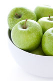 Green granny smith apples Royalty Free Stock Photos