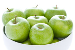 Green granny smith apples Royalty Free Stock Photo