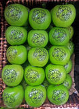 Green granny smith apples Stock Image