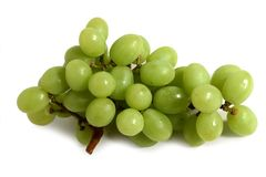 Green grape. Fresh green grape isolated on white background Stock Photography