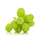 Green  grape  bunch  isolated on white background cutout Stock Images