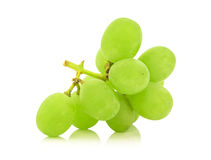 Green  grape  bunch  isolated on white background cutout Royalty Free Stock Photography
