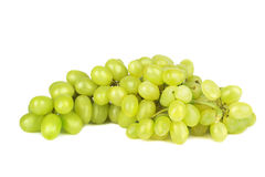 Green grape bunch on white background. Green grape bunch isolated on white background Royalty Free Stock Photography