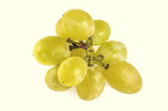 Green grape bunch  on white background Stock Images