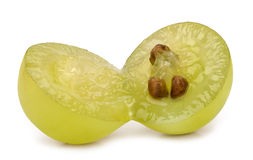 Green grape cut Royalty Free Stock Photo