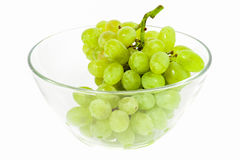 Green grape in glass Stock Images