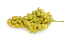 Green grape isolated on a white Royalty Free Stock Images
