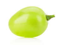 Green grape isolated on a white background Royalty Free Stock Photos