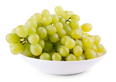 Green grape on plate Stock Image