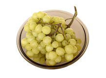 Green grape in vase isolated on white. Background Royalty Free Stock Image