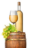 Green grape and wine Royalty Free Stock Photography