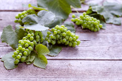 Green grape on a wooden  table. Green grape on a wooden  vintage filter Royalty Free Stock Photo