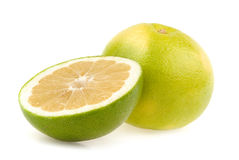 Green grapefruits stock image