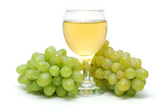 Green grapes. Royalty Free Stock Photo