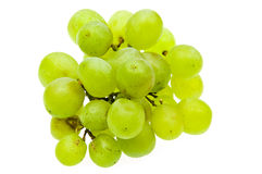 Green grapes. Photo of green grapes on white background Royalty Free Stock Photo
