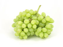 Green grapes. Green organic grapes on isolated background stock photo