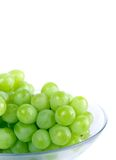 Green grapes in bowl Royalty Free Stock Images