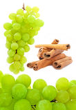 Green Grapes and Cinnamon Stock Photos