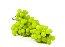 Green grapes close-up on a white background Stock Image