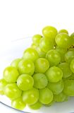 Green grapes in a glass bowl Royalty Free Stock Photography