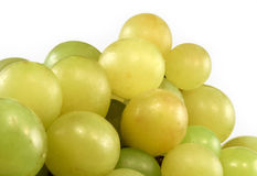 Green grapes isolated Stock Photo