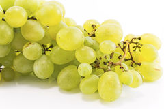 Green grapes isolated on white.  Royalty Free Stock Images