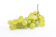 Green grapes isolated on white.  Royalty Free Stock Photo
