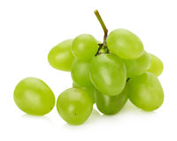 Green grapes isolated on the white background.  Royalty Free Stock Photography