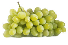 Green grapes isolated Royalty Free Stock Photo